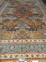 Faded Persian Rug by Sultan Rug With Saber Signature Mashhad Silk Persian Rug Item