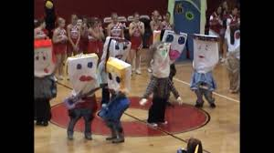 chs pillow people pep rally skit youtube