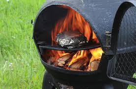 Homemade Chiminea Grilling With A Chiminea