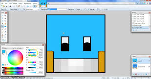 how to make a cartoon minecraft profile picture for youtube paint