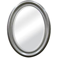 Oval Bathroom Mirrors Brushed Nickel Mcs Beaded Oval Wall Mirror 22 5x29 5 Inch Overall