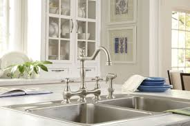 polished nickel kitchen faucet faucet d404557pnv in polished nickel by danze
