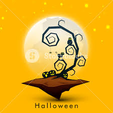 background for halloween banner or background for halloween party night concept with dead