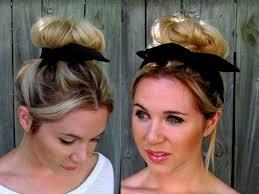 headband ponytail black bun wrap wire flex headband pin up bun wrap hair tie