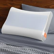 bed pillows tempur pedic breeze contour standard side to side bed pillow