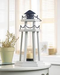 lighthouse home decor lighthouse point wooden lantern wholesale at koehler home decor