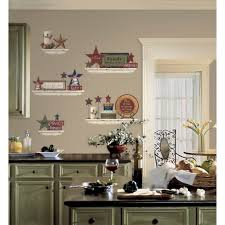 kitchen unique white framed kitchen utensils wall decor ideas