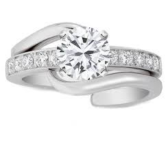 engagement and wedding ring set engagement ring interlocking bridal set diamond engagement ring