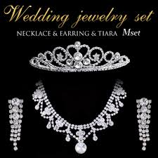 wedding jewelry roryxtyle rakuten global market wedding jewelry set tiara