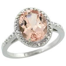 silver pink rings images Morganite jpg