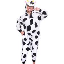 silver lilly unisex plush animal costume pajamas
