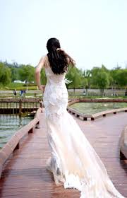 nud u0026 ivory color tulle mermaid wedding dress with ivory lace