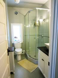 Small Bathrooms With Corner Showers Modern Small Bathroom With Corner Shower Room Orchidlagoon Com