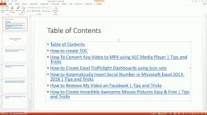 home design 2016 serial auto create table of content in microsoft powerpoint 2013 2016