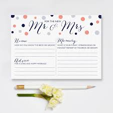 Advice Cards For The Bride Mr And Mrs Wedding Game Cards Pack Of 10 By Intwine Design