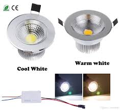 Recessed Halogen Ceiling Lights Diammable 7 Watts Cob Led Ceiling Light Downlight Warm Cool White