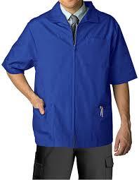 adar s zippered sleeve multi pocket scrub jacket for