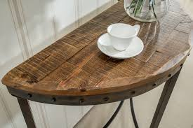 console table in distressed pine