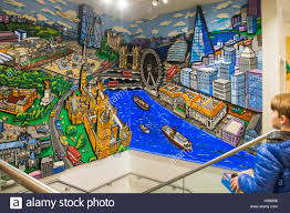 lego store leicester square stock photos lego store leicester a child views a mural of london made