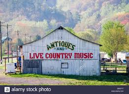 an old barn houses antiques and live country music in this small
