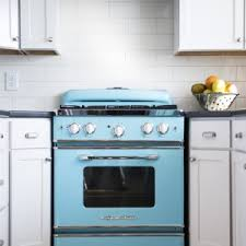 cute retro kitchen appliances features dark purple acrylic kitchen