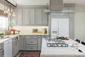 small kitchen gray cabinets gray cabinets brighten this small light white transitional