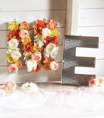 chicken wire letter floral arrangement joann
