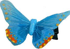 butterfly hair clip traveling butterflies handmade blue butterfly hair clip