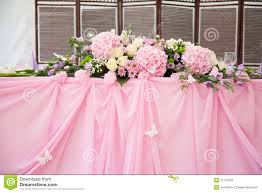bridal decorations pink wedding bridal table decorations stock photography image