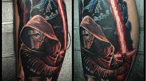 kylo ren jon and more geeky tattoos for the 100th inked
