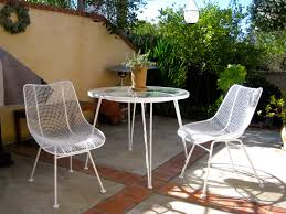 Wrought Iron Patio Furniture Set by Furniture White Pair Midcentury Modern Outdoor Wrought Iron