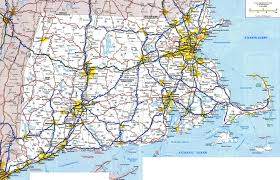 Massachusetts national parks images Large detailed roads and highways map of massachusetts jpg