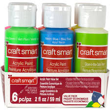 glow paint buy the neon glow acrylic paint value set by craft smart at