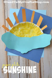 Paper Plate Craft Ideas For Kids Paper Plate Umbrella Kid Craft Sunshine Crafts And Weather