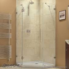 34 Shower Door Dreamline Prism 34 5 16 In By 34 5 16 In Frameless Hinged