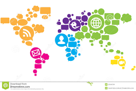 World Map Vector Social Media World Map Vector Stock Image Image 22043761