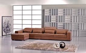 Sectional Sofas Fabric Contemporary Brown Microfiber Sectional Sofa Fabric Sectional Sofas
