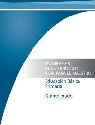 calaméo programa de estudios 5 grado educ primaria