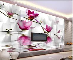 3d Wallpaper For Living Room by Luxury European Modern Water Magnolia Flower Background Wall Mural