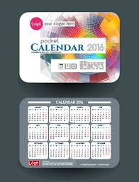 calendar 2016 with business cards vector 05 vector business