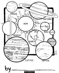 coloring solar system
