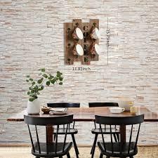 amazon com rustic vintage kitchen wall storage brown wood wall