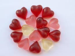 heart candies heart candies in circle stock photo image of background 16859348
