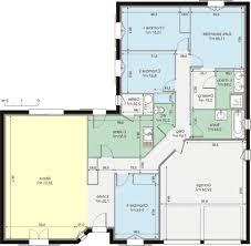 plan de maison 120m2 4 chambres plan de maison plain pied envoûtant plan maison plain pied gratuit 4