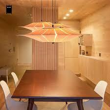 Wood Veneer Pendant Light Oak Wooden Veneer Bark Shade Pendant Light Fixture Japanese Korean