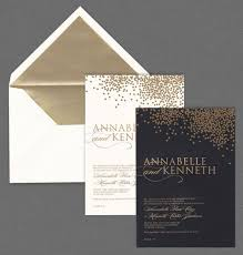 vera wang wedding invitations vera wang oyster and black wedding invitations with gold confetti