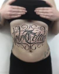 belly lettering tattoo chicano best tattoo ideas gallery