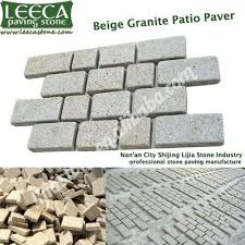 Granite Patio Pavers Interlocking Cobblestone Mat Beige Granite Patio Paver Leeca
