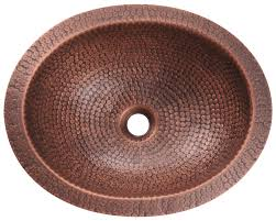 909 single bowl oval copper sink