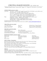 Musician Resume Template Voice Over Resume Free Resume Example And Writing Download